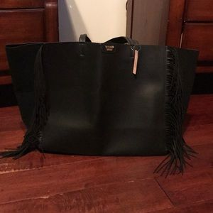 Victoria's Secret leather tote bag